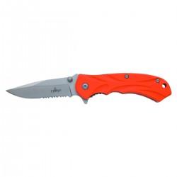 Navaja asistida Third K2451S, hoja de acero inox de 8 cm acabado satinado con sierra.