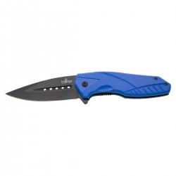 Navaja asistida Third K2774BL, mango de ABS azul, hoja de acero inox de 9 cm negra.