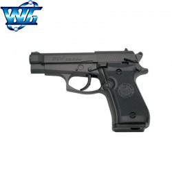 WG M84 Black Type Beretta 84FS Cheetah - Full Metal - Gun 4.5 mm. - Co2