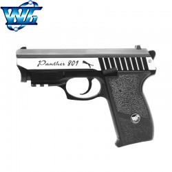 WG SPORT 801 com Laser - Cromado - Metal Completo - BlowBack - Pistola 4,5 mm - CO2