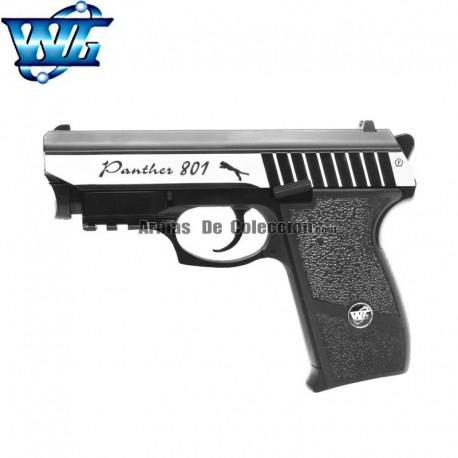 WG SPORT 801 con Láser -Cromada - Full Metal - Blow Back - Pisola 4.5 mm - CO2