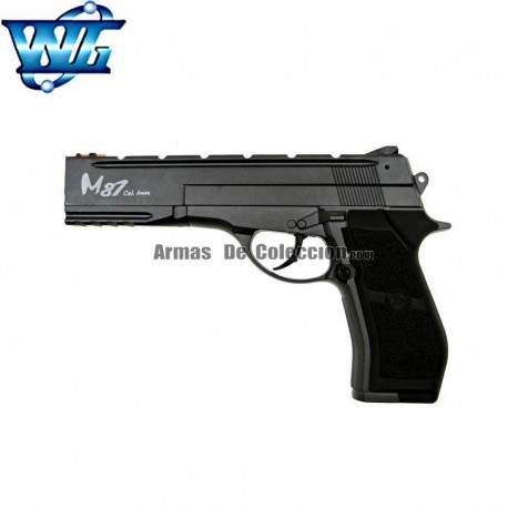 WG M87 CROMADA - FULL METAL - PISTOLA 4.5 mm. Co2