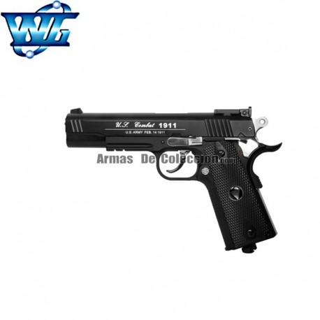 WG Spot 601 - Tipo Colt 1911 Special Combat. Pistola 6mm Corredera metálica - BLOW BACK CO2