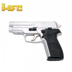 HFC Type Sig Sauer P228 Chrome - Heavy Spring Gun - 6 mm.