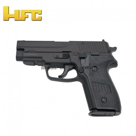 HFC Tipo Sig Sauer P228 Negra - Pistola Muelle Pesada - 6 mm.
