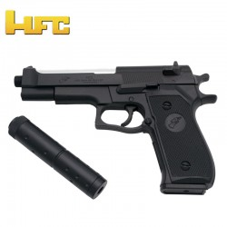 Double Eagle M22 with Beretta Type 92F stabilizer - Black - Spring Gun - 6 mm.