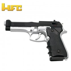 HFC Tipo Beretta 92FS BICOLOR - Pistola Muelle Pesada - 6 mm.