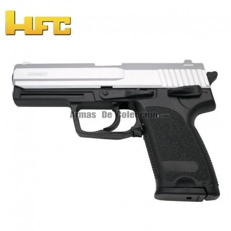 HFC Type H&K USP Bicolor - Heavy Spring Gun - 6 mm.
