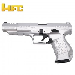 HFC Long Barrel Type Walther P99 Long Barrel - Chrome - Heavy Spring Pistol - 6 mm.
