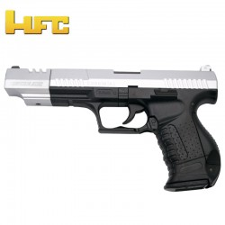 HFC Cañón largo Tipo Walther P99 Long Barrel - Bicolor - Pistola Muelle Pesada - 6 mm.