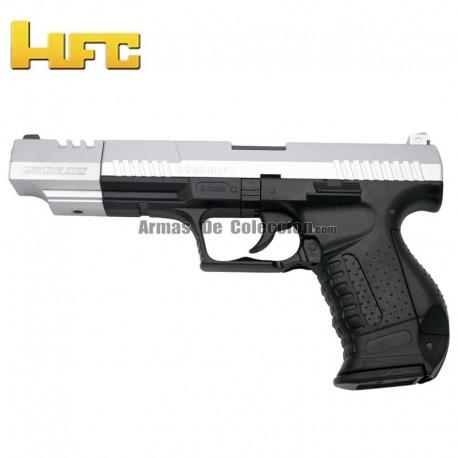 HFC Cañón largo Tipo Walther P99 Long Barrel - Bicolor - Pistola Muelle Pesada - 6 mm.