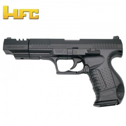 HFC Long Barrel Type Walther P99 Long Barrel - Black - Heavy Spring Pistol - 6 mm.