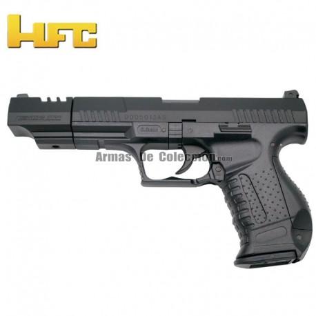 HFC Cañón largo Tipo Walther P99 Long Barrel - Negra - Pistola Muelle Pesada - 6 mm.