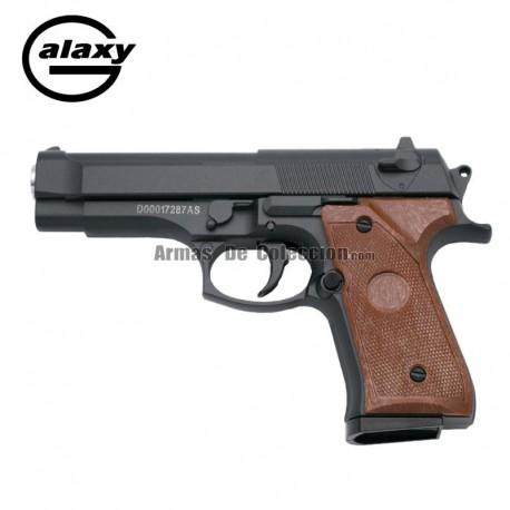 Galaxy G22 Negra - Pistola Muelle - 6 mm _ Aleación metal zinc
