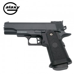 Galaxy GG10 Black - Spring Gun - 6 mm zinc metal alloy