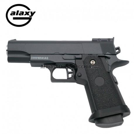 Galaxy GG10 Negra - Pistola Muelle - 6 mm _ Aleación metal zinc