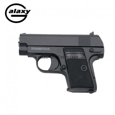 Galaxy G9 Negra - TIPO COLT 25 -Pistola Muelle - 6 mm _ Aleación metal zinc
