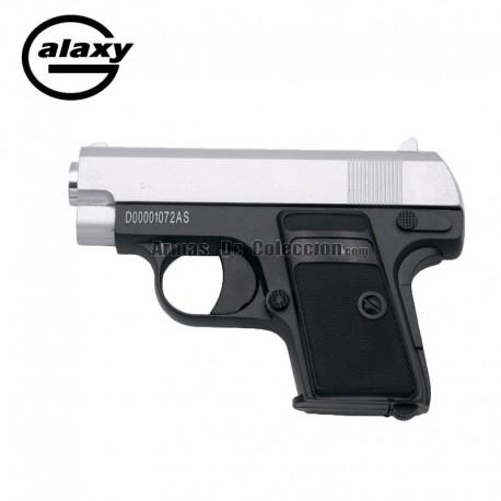 Galaxy G9 Bicolor - TIPO COLT 25 -Pistola Muelle - 6 mm _ Aleación metal zinc