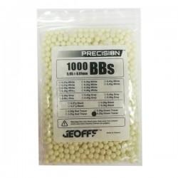 0,25 grs - 6mm - Bolas trazadora Geoffs Precision verde amarillo 1000 bbs