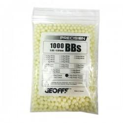 0,20 grs - 6mm - Bolas trazadora Geoffs Precision verde amarillo 1000 bbs