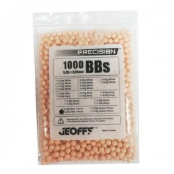 0,25 grs - 6 mm - Geoffs Bolas rastreadoras de precisão LARANJA VERMELHA 1000 bbs