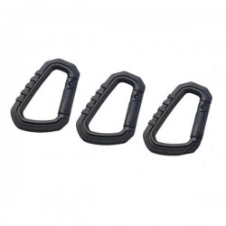 Carabiner PVC FMA Molle Pack 3 Units Black