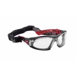 Óculos Bolle Rush com pino de cordão vermelho e preto