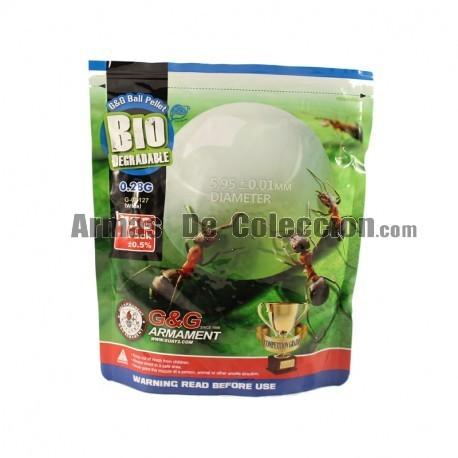 0.28 6 mm Bolas G&G 3500 bbs Bio