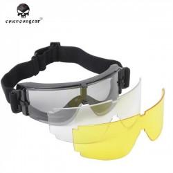Óculos X800 com três óculos Emerson