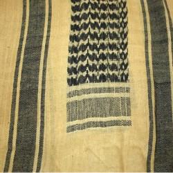 Tan / Black Palestinian Scarf