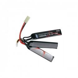 Bateria Li-Po ASG 11.1 V 1300MAH 25C Preto