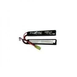 Batería VLC-PRO Li-Po 7.4V 1500mAH 15C Doble Negra