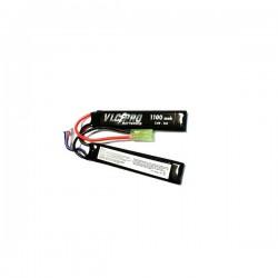 Bateria VLC-PRO Li-Po 7.4V 1100mAH 15C Duplo Preto