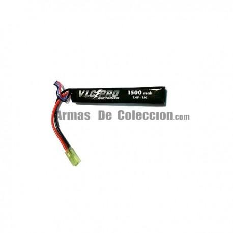BATERIA VLC-PRO LIPO 7.4V 1500mah 15C NEGRA