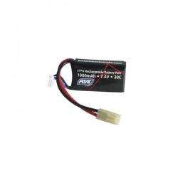 Bateria Li-Po ASG 7.4V 1000mAH 30C Preto