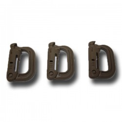 Prendedor PVC FMA Molle Pack 3 Unidades Bronzeado