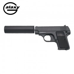 Galaxy type Colt 25 with stabilizer -FULL METAL- Black - Spring Gun - 6 mm