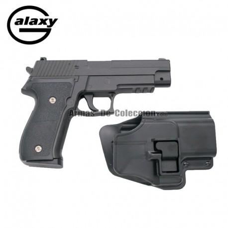 Galaxy G26 con Funda Rígida - FULL METAL tipo SIG SAUER - Pistola Muelle - 6 mm