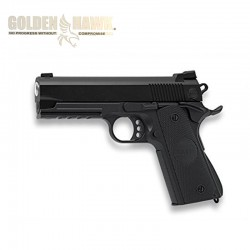 Golden Hawk Type 1911 Rail - Black - METAL - Spring gun - 6mm