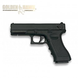 Golden Hawk Type Glock - Black - METAL - Spring gun - 6mm