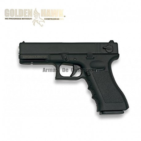 Golden Hawk Tipo Glock - Negra - METAL - Pistola muelle - 6mm