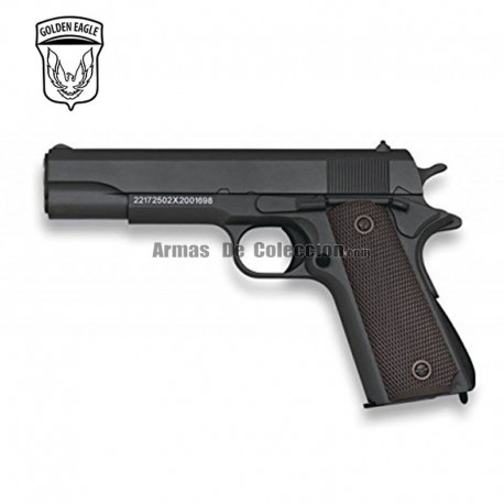 Golden Eagle Tipo Colt 1911 Negra - METAL - Pistola muelle - 6mm