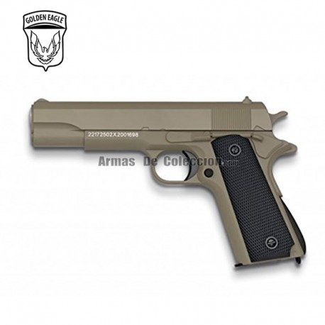 Golden Eagle Tipo Colt 1911 TAN - METAL - Pistola muelle - 6mm