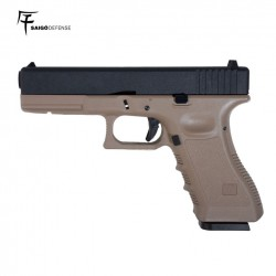 Saigo 17 (Tipo Glock 17) 6MM Gas BlowBacko Metal Slide Tan