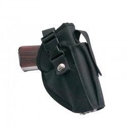 Gun holster and black nylon loader