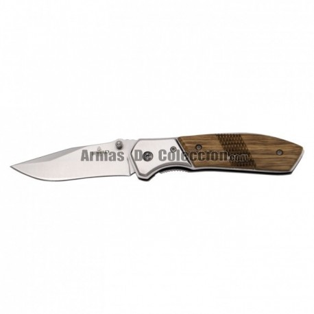 Navaja Third 15492Z, mango de madera, hoja de acero inox 420 de 10 cm.