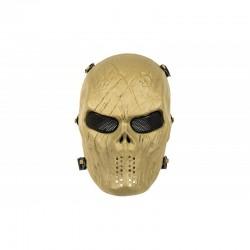 Máscara de Caveira MKII de Cara Cheia (Cor Marrom)