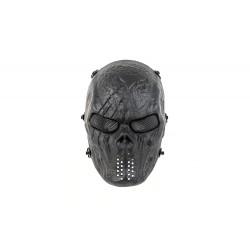 Máscara de Caveira MKII de Cara Cheia (Cor Preta)