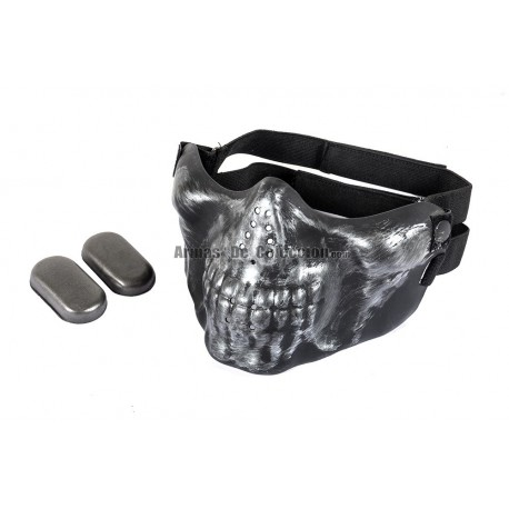 Half Face Skull Mask MKII (Black Color)