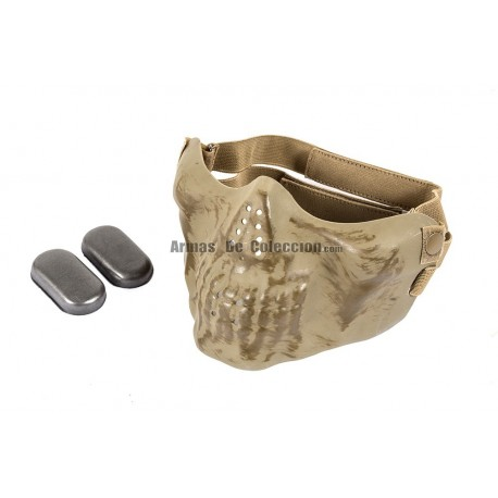 Half Face Skull Mask MKII (Tan Color)